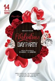 Valentines Day V04 – Flyer PSD Template + Facebook Cover