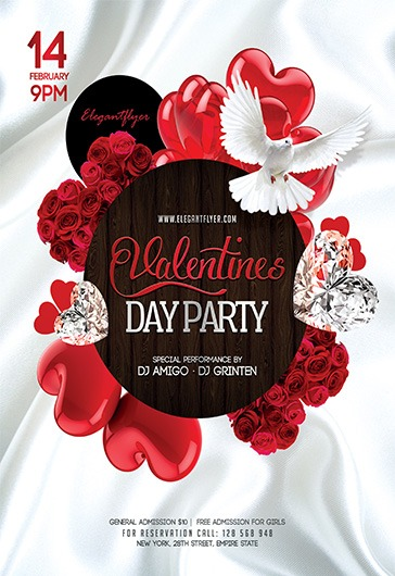 Valentines Day V04 – Flyer PSD Template