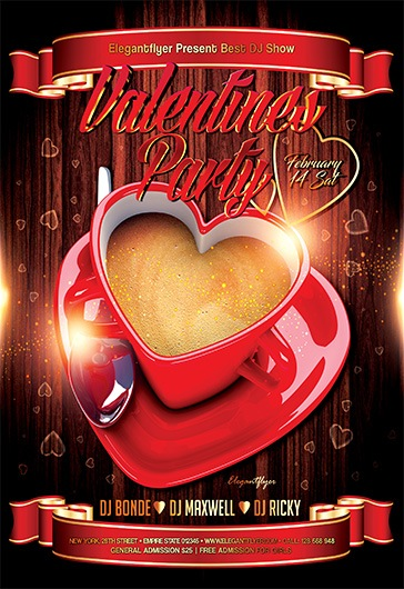 Free Flyer Party for Valentines Day
