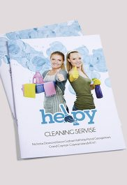 Cleaning services – Premium Bi-Fold PSD Brochure Template