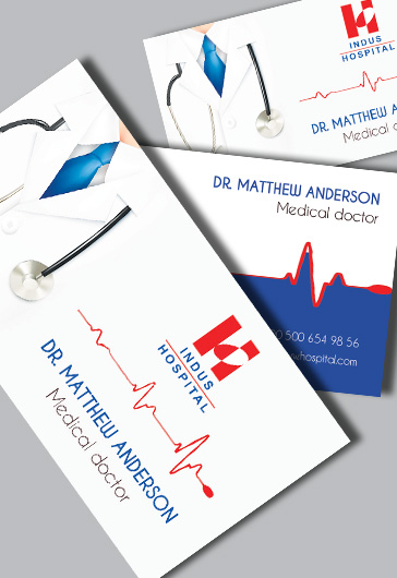 Doctor premium business card psd template by elegantflyer reheart Images