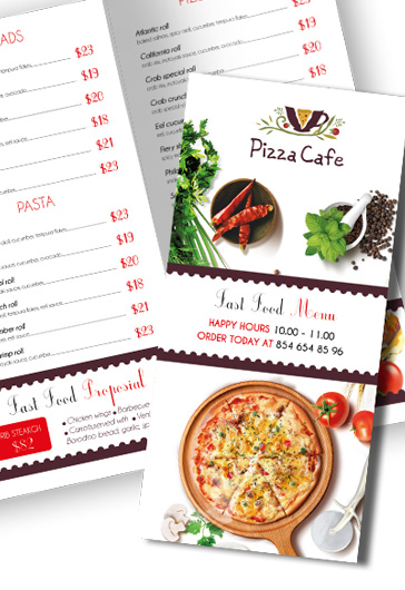 Fast Food Free PSD TriFold PSD Brochure Template By ElegantFlyer - Menu brochure template free