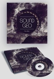 Sound Geo – Premium CD Cover PSD Template