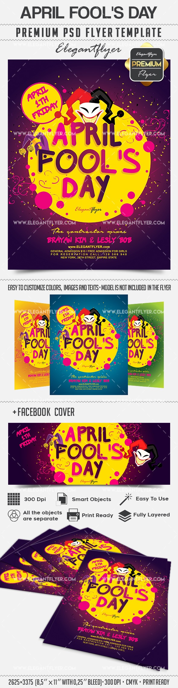 April Fool's Day – Flyer PSD Template
