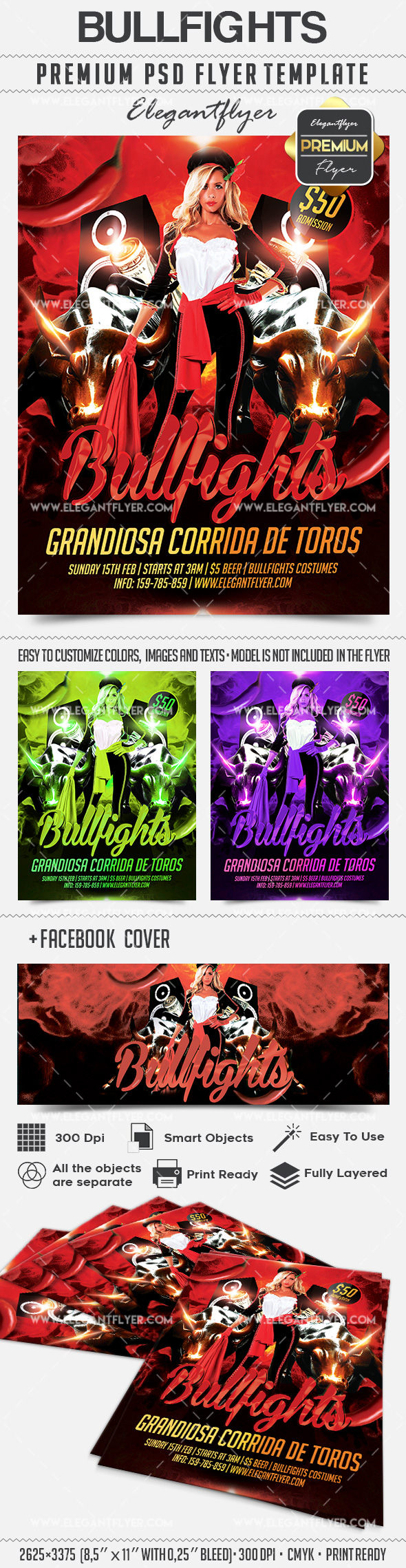 Bullfights – Flyer PSD Template
