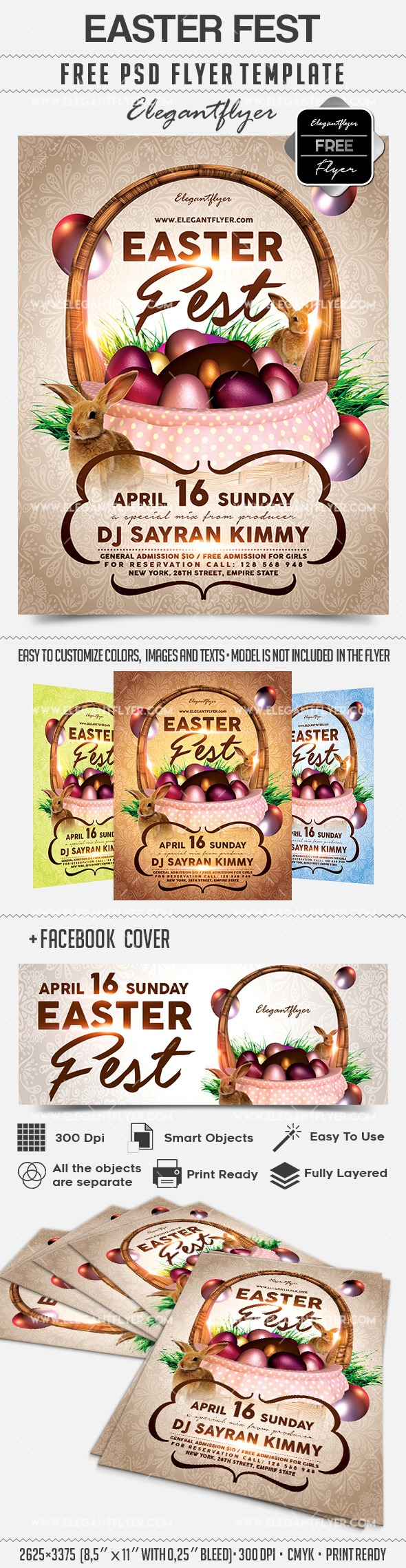 Easter Fest – Free Flyer PSD Template