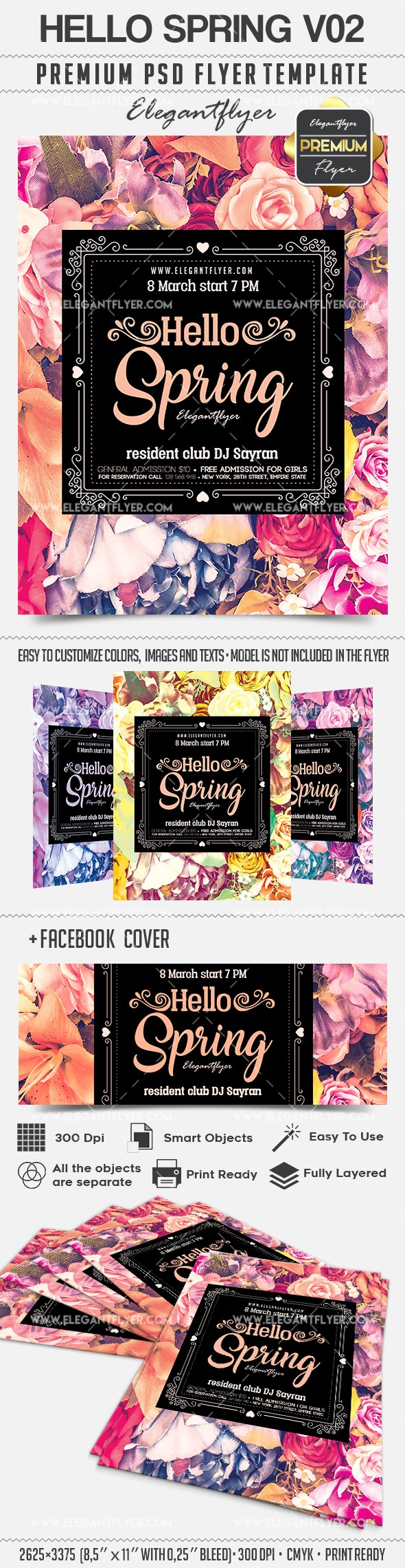 Hello Spring V02 – Flyer PSD Template