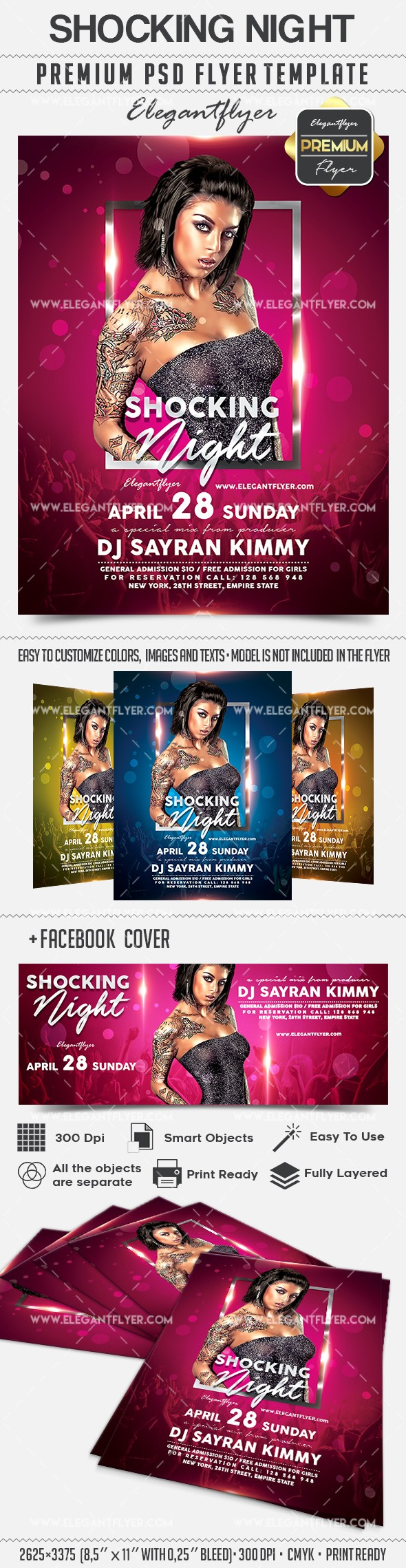 Shocking Night – Flyer PSD Template