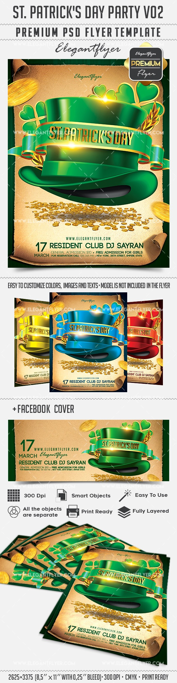 st  patrick u2019s day party v02  u2013 flyer psd template  u2013 by