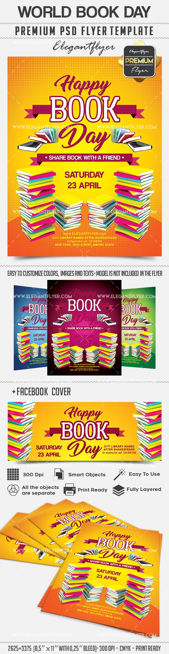 World Book Day – Flyer PSD Template