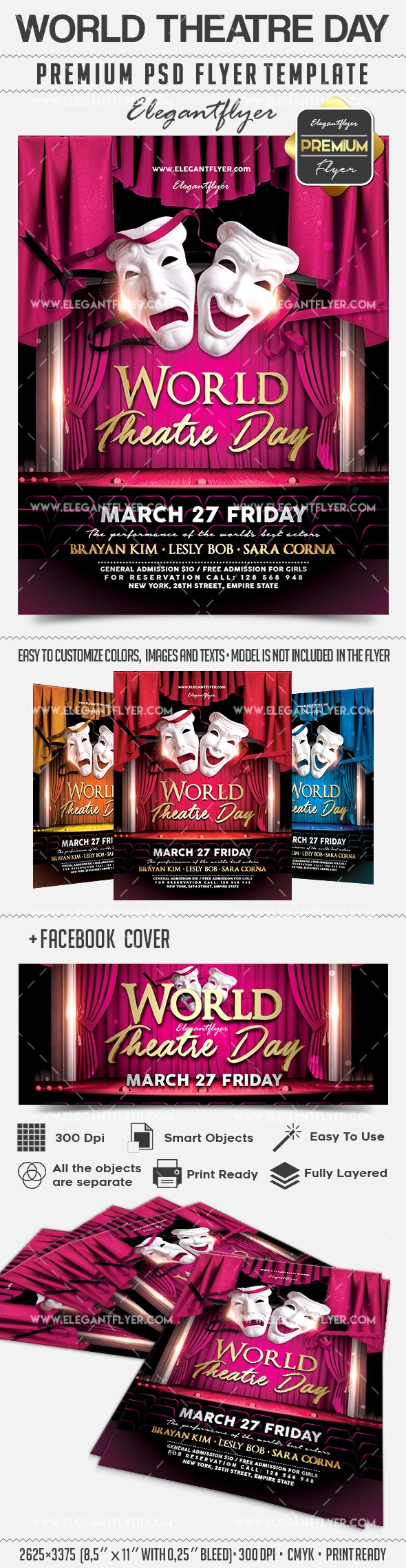 World Theatre Day – Flyer PSD Template