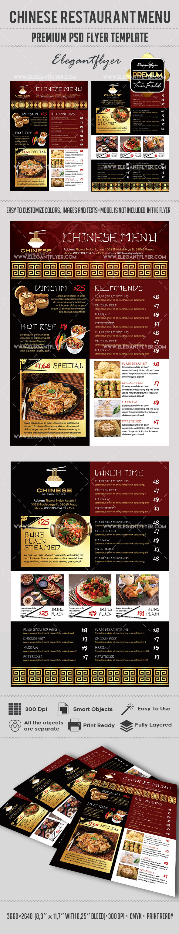 Chinese Restaurant Menu – Premium Flyer PSD Template