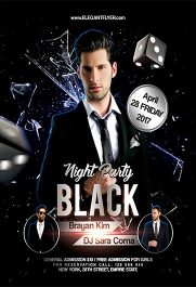 Black Party V02 – Flyer PSD Template + Facebook Cover