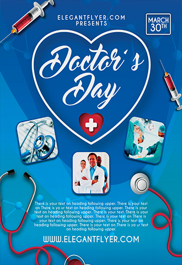 doctor u2019s day  u2013 flyer psd template  u2013 by elegantflyer