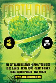 Earth Day Celebration – Flyer PSD Template + Facebook Cover