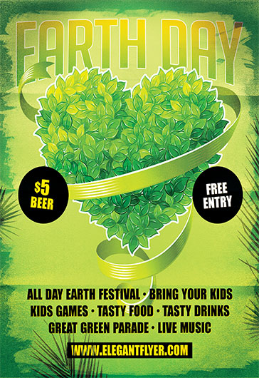 earth day celebration  u2013 flyer psd template  u2013 by elegantflyer