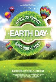 Earth Day – Flyer PSD Template + Facebook Cover