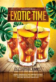 Exotic Time – Flyer PSD Template + Facebook Cover