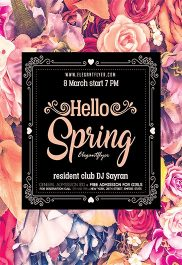 Hello Spring V02 – Flyer PSD Template + Facebook Cover