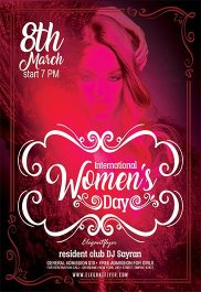 International Women's Day – Flyer PSD Template + Facebook Cover