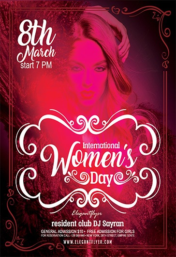 International Women's Day – Flyer PSD Template