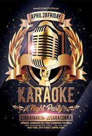 Karaoke Night Party V02 – Flyer PSD Template + Facebook Cover