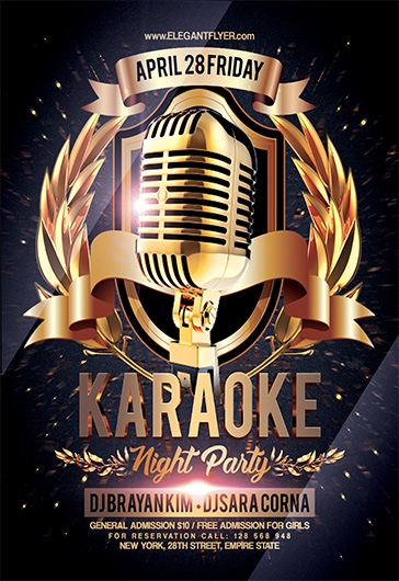 Karaoke Night Party V  Flyer Psd Template  By Elegantflyer