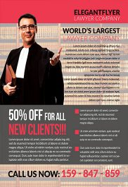 Lawyer Company – Flyer PSD Template + Facebook Cover