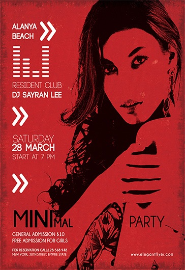 Minimal Party V02 – Flyer PSD Template