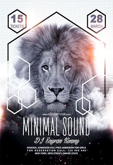 minimal lion sound poster  u2013 by elegantflyer
