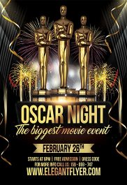 Oscar Night – Flyer PSD Template + Facebook Cover