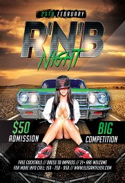 R'n'B Night – Flyer PSD Template + Facebook Cover