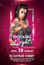 Shocking Night – Flyer PSD Template + Facebook Cover