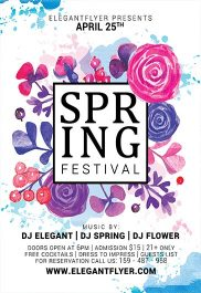 Spring Festival – Flyer PSD Template + Facebook Cover