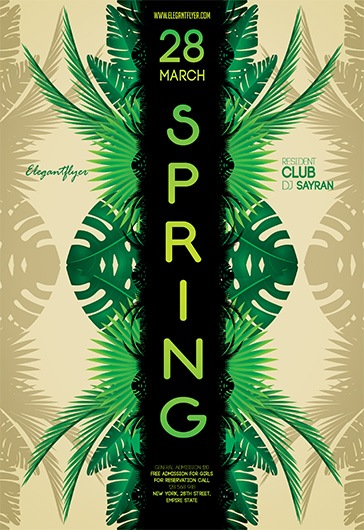 Free Spring Flyer Templates For Photoshop  By Elegantflyer
