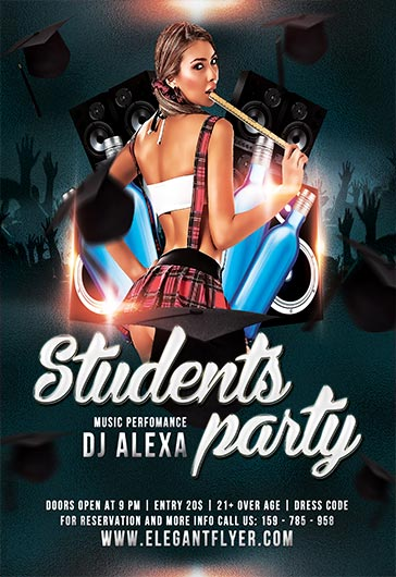 Students Party – Flyer PSD Template