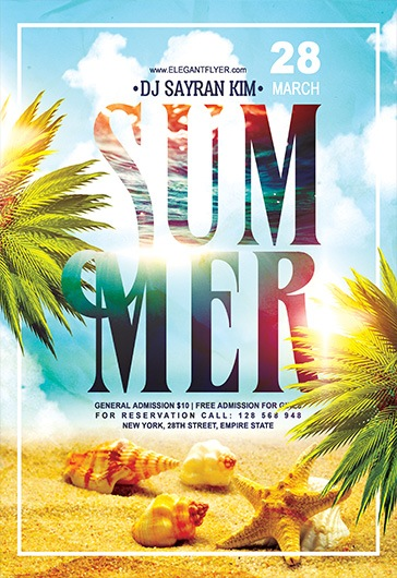 Summer Party V03 – Flyer PSD Template