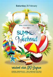 Summer Weekend – Flyer PSD Template + Facebook Cover