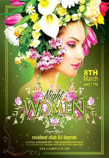 Women Night – Flyer PSD Template + Facebook Cover