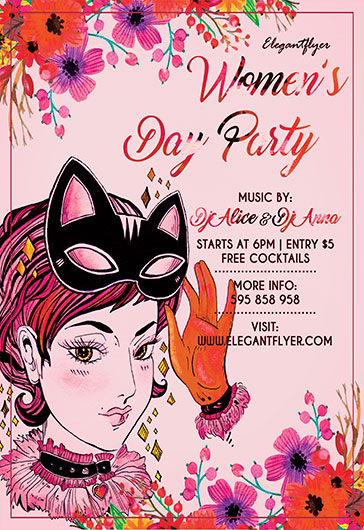 Flyer Template for Women's Day Party