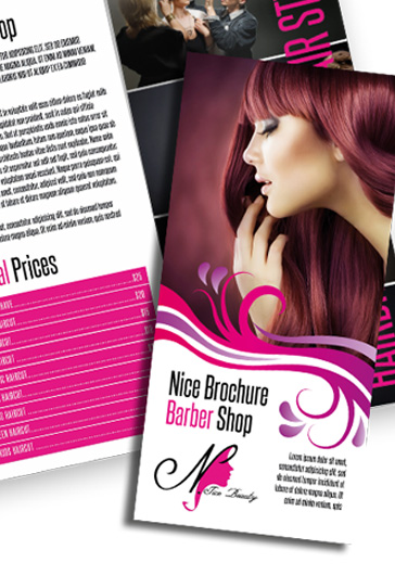 Nice Brochure Barber Shop PSD Template