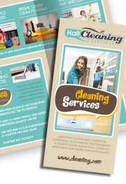 Cleaning Services – Premium Tri-Fold PSD Brochure Template