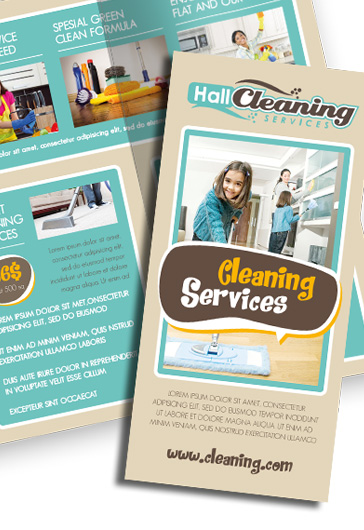Cleaning Services – Premium Tri-Fold Psd Brochure Template – By
