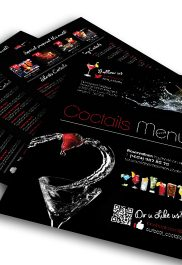 Cocktails Drinks Menu –Premium Flyer PSD Template
