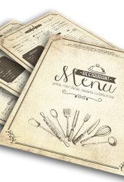 Vintage Menu – Free Flyer PSD Template
