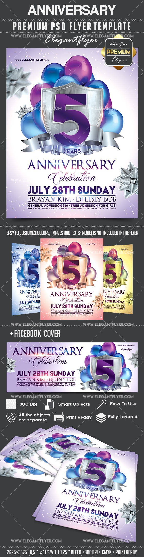 Template for Anniversary Theme – by ElegantFlyer
