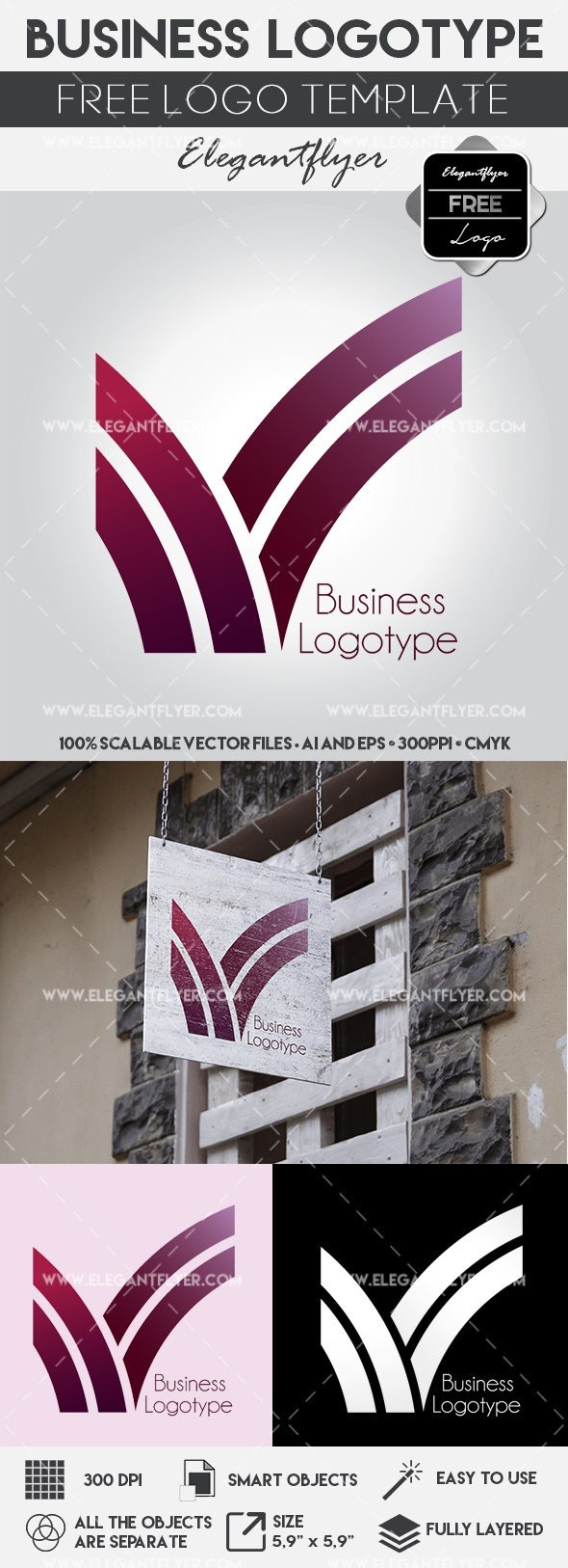 Business Line Logo Template