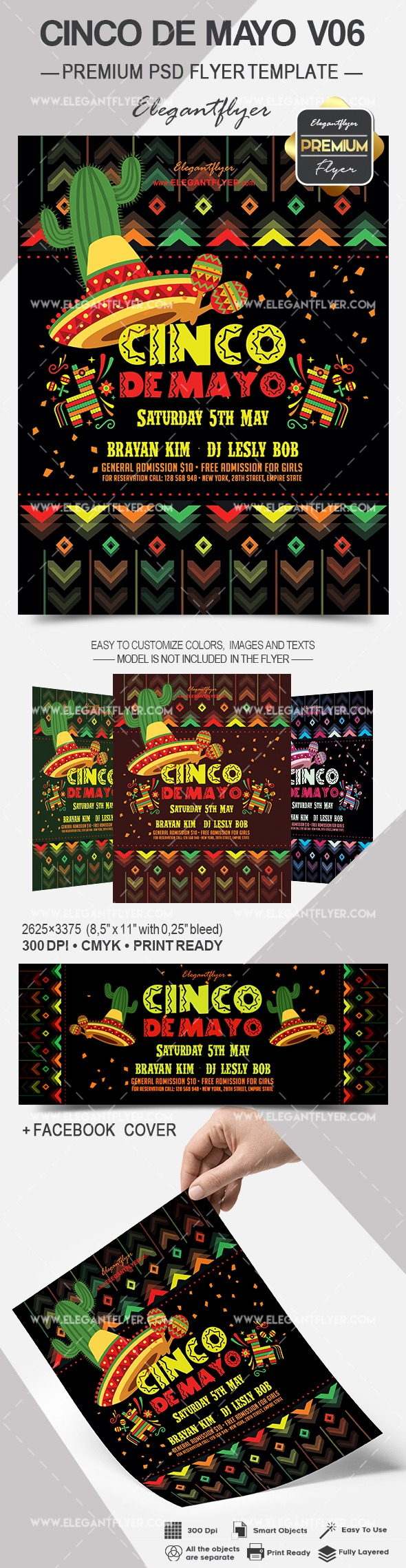 Cinco De Mayo V06 – Flyer PSD Template