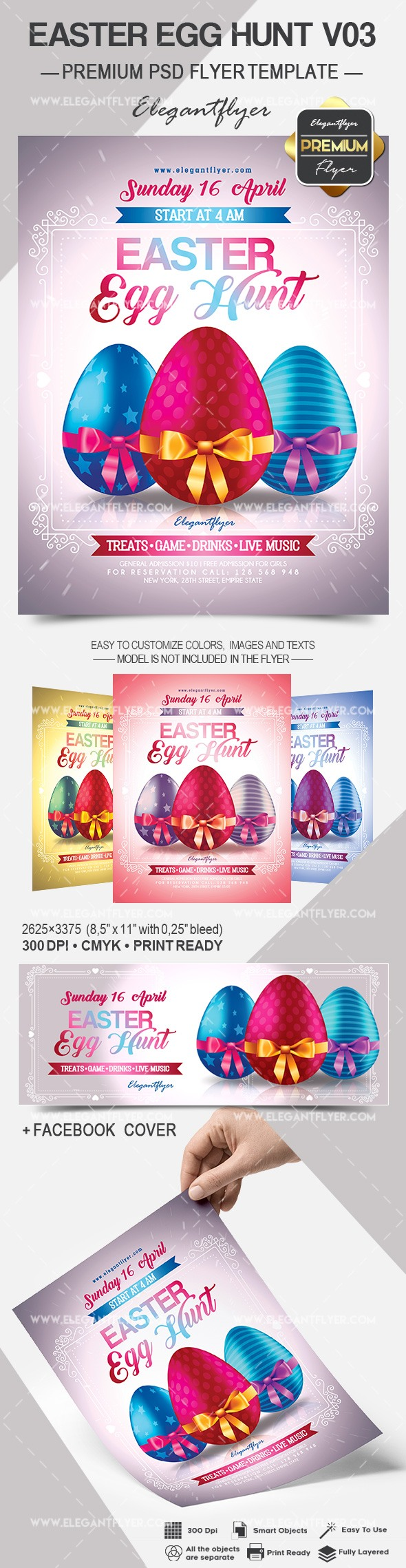 easter egg hunt flyers
