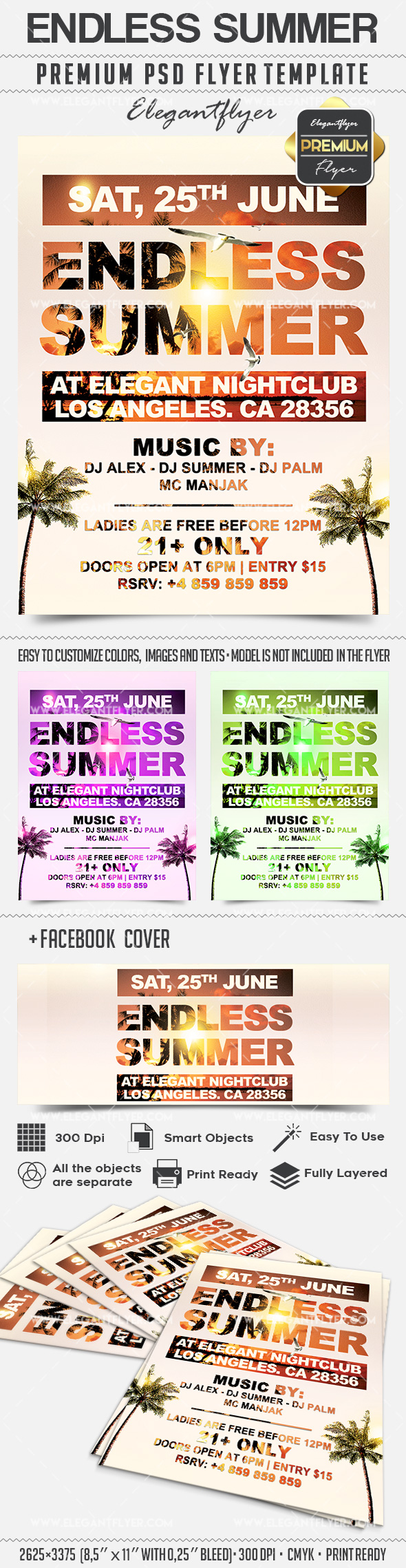 Endless Summer – Flyer PSD Template